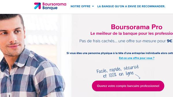 l'offre Boursorama Pro de Boursorama Banque