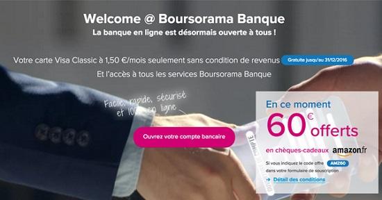 offre Welcome Boursorama Banque pour jeune